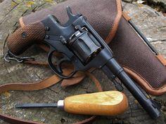 "cerebralzero: ""Nagant"" Revolver Izhevsk) by Spreewerke "" Military Knives, Military Surplus, Weapons Guns, Guns And Ammo, Good Old Games, Revolver Pistol, Revolvers, Cool Guns, Paladin"