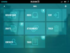 iPad Email App UI, redux designed by Matt Benson. App Ui, Ipad, Messages