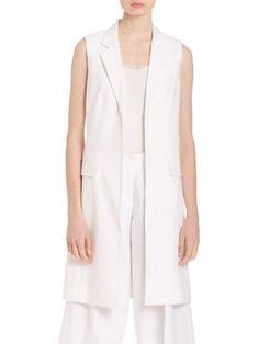 MICHAEL MICHAEL KORS Long Linen Vest. #michaelmichaelkors #cloth #vest