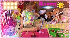 Девочка делает прическу барби ( Barbie ) кен| Girl 3 years and plays Bar...