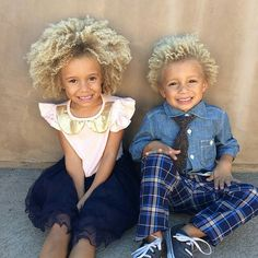 Cute siblings with style repost from My favorite pic ever of my kiddos! They're so happy, silly and sweet with each other. ❤️💙 Stella's dress is from Blaise's tie from Most Beautiful People, Beautiful Children, Black Is Beautiful, Beautiful Babies, African American Girl Hairstyles, Black Women Hairstyles, Biracial Children, Cute Mixed Babies, Girls With Red Hair