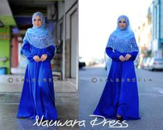 Muslimah Royal Blue Dress