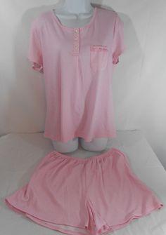 Karen Neuburger S Small Pajama Set Sleepwear Pink White Dots NWT #KarenNeuburger #PajamaSets #Everyday