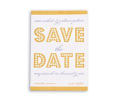 spread the word give your guests some advanced notice with a cute little save