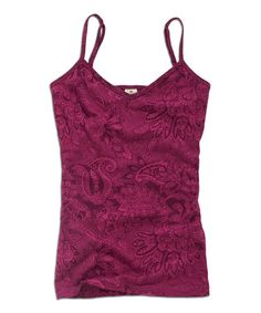 Another great find on #zulily! Maroon Paisley Camisole #zulilyfinds