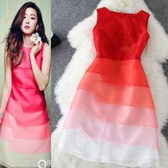 Cute Organza Gradient Dress