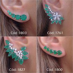 Unusual Ear Jewelry, Cute Jewelry, Diamond Jewelry, Jewelery, Jewelry Accessories, Jewelry Design, Pakistani Jewelry, Gold Earrings Designs, Designer Earrings