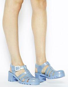 Image 4 ofJuju Babe Pearl Blue Glitter Exclusive Heeled Sandals
