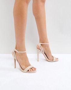 new style e2b87 946c8 ankle straps heels design  StilettoHeels Bröllopsklackar, Svarta  Högklackade Skor, Vita Skor, Zapatos