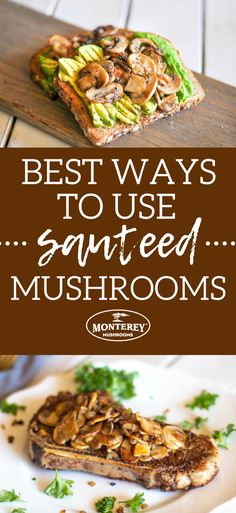 Make sauteed mushrooms and then use one of these three mushroom recipe ideas! Healthy Dinner Recipes, Mexican Food Recipes, Appetizer Recipes, Breakfast Recipes, Baby Bella Mushroom Recipes, Best Mushroom Recipe, Grilling Recipes, Crockpot Recipes, Cooking Recipes