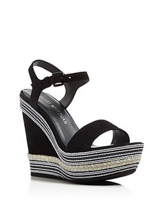 Stuart Weitzman Single Platform Wedge Sandals | Bloomingdale's