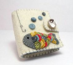 Felt Needle Book / Rainbow Fish