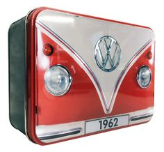 Campervan Gift - VW Red Campervan Collectible Rectangle Tin, (http://www.campervangift.co.uk/vw-red-campervan-collectible-rectangle-tin/)