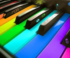 colorful piano will help the beginner piano player to memorize the notes. Color the note with the tuts color, they will learn fast!