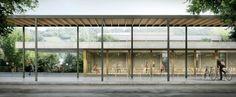 gsmm architetti, giorgio santagostino, mónica margarido (via afasiaarchzine), exterior civic pathway, realistic perspective render