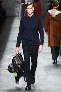 Fendi - Fall 2015 Menswear - Look 27 of 44. LOVE the #backpack #mensaccessories