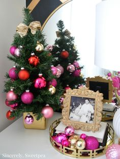 Looking for an alternative to a tree skirt? Check out these 2 ft. potted trees!