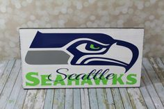 Seattle Seahawks Wood Sign, Football sign Team sign, Go Seahawks. 12th Man
