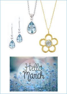 c0ea60702 Aquamarine set in yellow and white gold. The birthstone for the month of  March.