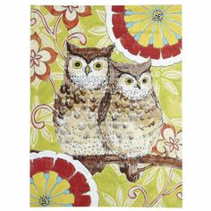 Two Hoots Wall Art - Have this painting and am using it to inspire my home office redecoration.