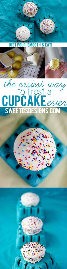 Make cupcakes look like mini cakes with this faux fondant tip- using STORE BOUGHT ICING!! This is life changing and so much fun for parties!