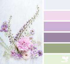 beautiful color palette by design seeds Palette Pastel, Spring Color Palette, Colour Pallette, Color Palate, Spring Colors, Colour Schemes, Color Combinations, Spring Flowers, Vintage Colour Palette