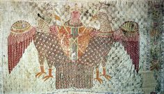 This Byzantine silk hanging of the 10th century is in the Mainfränkisches Museum, Würzburg.     The eagles should be griffins, following a popular novel appreciated in both Christian and Moslem countries. See my article,  www.green-man-of-cercles.org/articles/alexander.pdf