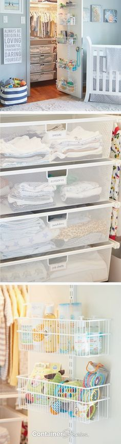 Trendy baby nursery storage tips Baby Closet Storage, Baby Room Closet, Nursery Closet Organization, Boys Closet, Baby Room Diy, Baby Boy Rooms, Baby Boy Nurseries, Baby Bedroom, Nursery Room