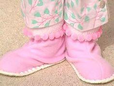 Pantuflas con pompones