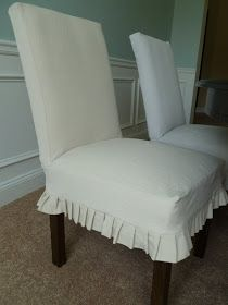 Only From Scratch: Slipcovered Parsons Chairs For The Dining Room
