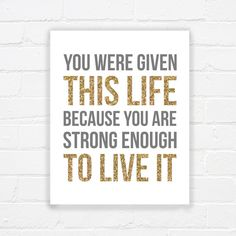 Motivational wall poster  inspirational quote by WhereisAlex, $5.00