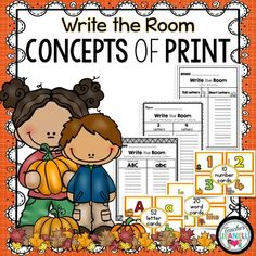 This Fall Themed Write the Room packet is filled with activities that will help your students work on important early literacy/pre-reading skills.