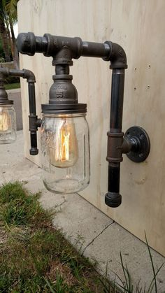 Pipe Outdoor Fixtures 2 Lighting with by VintagePipeCreations: