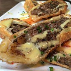 Cheese steak egg roll