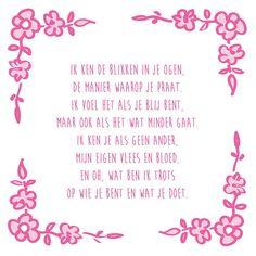 Tegeltjeswijsheid.nl - een uniek presentje - Ik ken de blikken in je ogen