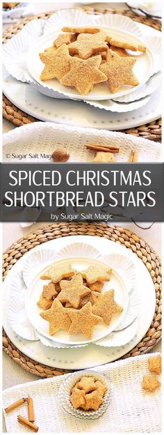 This Spiced Christmas Shortbread recipe is the classic shortbread you know and love but coated in your favourite Christmas spices. #shortbread #christmas via @sugarsaltmagic