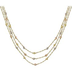 Two-tone Matte Gold Finish Champagne Cubic Zirconia Necklace ($67) ❤ liked on Polyvore featuring jewelry, necklaces, silver, chain necklaces, cz pendant necklace, long beaded necklace, circle pendant necklace and long chain necklace