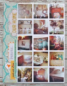 home photo collage.