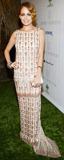 Nicole Richie went retro glam in a Lorena Sarbu gown at the 1st Annual Baby2Baby Gala Nov. 3.