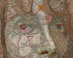 map / collage