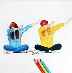 Dab with your friends (Best Friend Wallpaper) - - Bff Pictures Tumblr Drawings, Bff Drawings, Drawing Sketches, Drawing Drawing, Kawaii Drawings, Bff Pics, Friend Pictures, Best Friends Forever, Friends Sketch