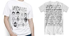 T-shirt design for WOW CLUB FESTIVAL on Behance