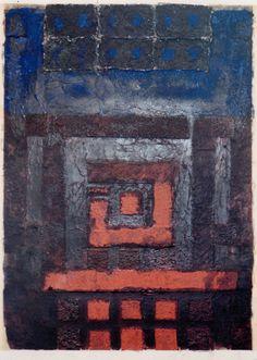 Takahiko Hayashi ~ D-16, 1992 (paper making, painting, collage)