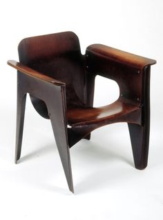 Gerrit Rietveld, Birza Chair, 1927. wooden chair, unique chair