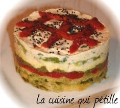 Terrine vegetables from the sun on a shortbread parmesan - Gastronomie - Lunch Recipes Indian, Shortbread, Delia Smith, Canned Blueberries, Vegan Scones, Gluten Free Flour Mix, Scones Ingredients, Vegan Blueberry, Party Finger Foods