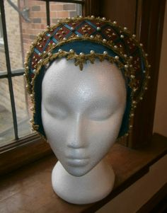 French Hood Renaissance Tudor Anne Boleyn Medieval LARP Wedding | eBay