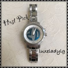 HOST PICK Fossil BG2197 Watch  Weekend Chic Party Host Pick  Beautiful watch. In my closet for 2 years now and still looks good. Little scratches at the back and a little dent as shown. Items in my closet are all packed. Most reasonable offers are accepted. Fossil Accessories Watches