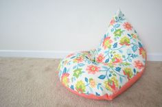 I am making this bean bag chair but using a vintage airplane print instead for skyler. I can't wait
