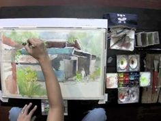 Watercolour Demo by Marvin Chew