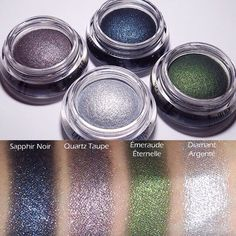 You're first to get a peek at swatches of the Lancôme Hypnôse Cream Eyeshadows from the Noel 2014 collection launching in November.  These things are gorgeous.